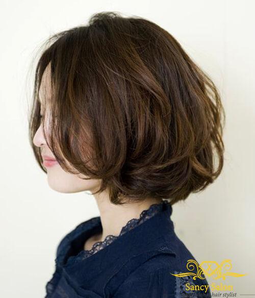 Kiểu tóc bob bồng bềnh cho tóc mỏng