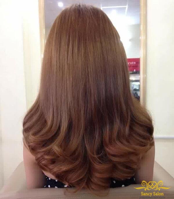 Những mẫu tóc nhuộm màu nâu đẹp không bao giờ lỗi mốt
