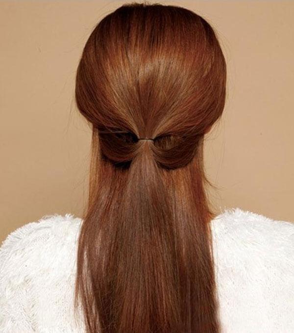 tóc buộc nửa đầu đi biển