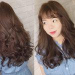 Tóc dài uốn xoăn sóng đẹp