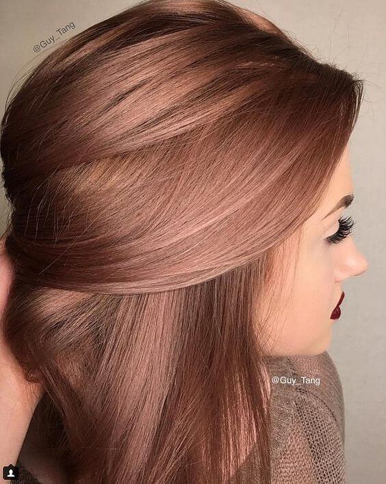 tóc hồng vàng hot 2017