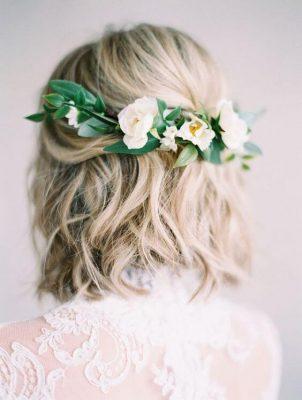 tóc ngắn đẹp cho cô dâu